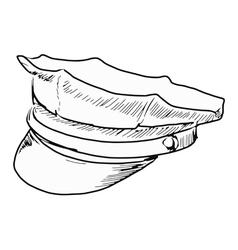 police peaked cap vector image