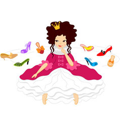 Pretty Smiling Princess Shoes vector