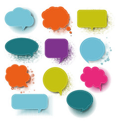 retro colorful speech bubble with white background vector image