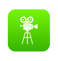 retro film projector icon digital green vector image