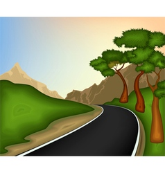 Road and nature background vector