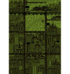seamless city map vector image