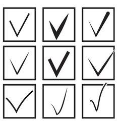 Set of check boxes flat vector image