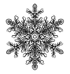 snowflake christmas new year sketch doodle vector image vector image