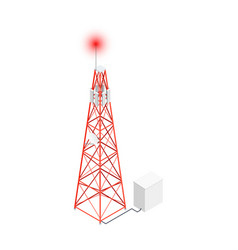 Telecommunication tower icon vector
