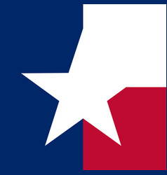 texas concept flag vector image