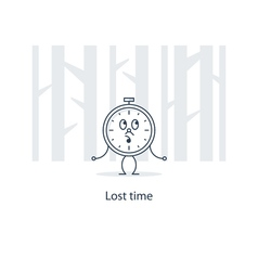Time has gone lost opportunities concept vector