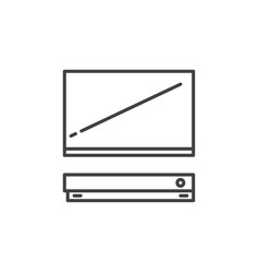 tv with video game console outline concept vector image