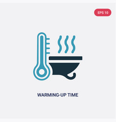 Two color warming-up time icon from sauna concept vector