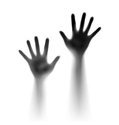 Two open hands in mist designer vector