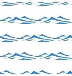 Undulating waves seamless background pattern vector image