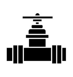 valve plumbing icon black vector image