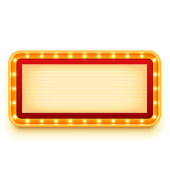 vintage lightbox with glowing bulbs wall light vector image