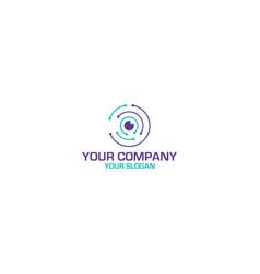 vision tech business logo design vector image