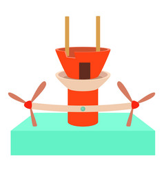 Water turbine icon cartoon style vector