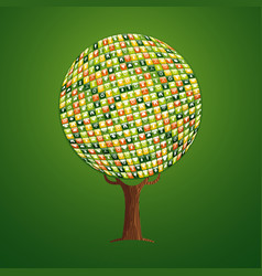 web app icon tree concept for environment help vector image