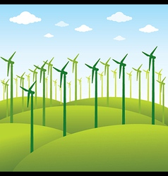 windmill or green energy source background vector image