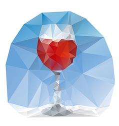 wine glass polygonal vector image