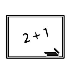 chalkboard class school chalk pictogram vector image vector image
