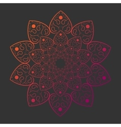Mandala on gray background card template vector image vector image