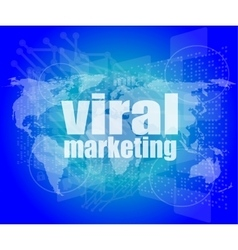 Marketing concept words Viral Marketing on vector image vector image