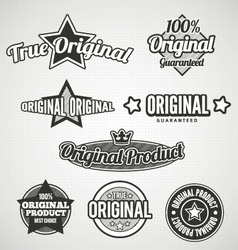 Original Labels Black and white vector image vector image