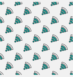 seamless pattern with wifi sign vector image vector image