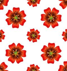Beautiful orange flower Seamless floral pattern vector image