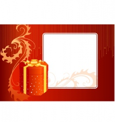 gift box and card vector image vector image