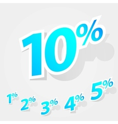 set of labels percent vector image