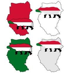 Sudan hippo vector image