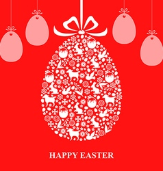 easter decor hang red vector image