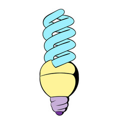 energy saving lamp icon cartoon vector image