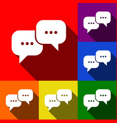 speech bubbles sign set of icons with vector image
