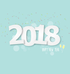 2018 happy new year abstract background vector image vector image
