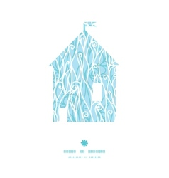 Abstract frost swirls texture house silhouette vector