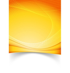 Bright summer solar folder template vector image vector image