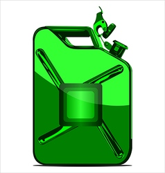 canister for fuel vector image vector image