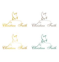 Christian faith pigeon vector