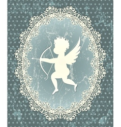 Cupid medallion vector image
