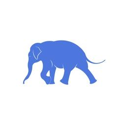 Elephant Walking icon vector image vector image