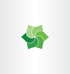 green leaves clip art icon eco symbol vector image vector image