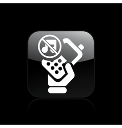 mute phone icon vector image vector image