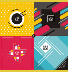 set of colorful vivid backgrounds and patterns vector image vector image
