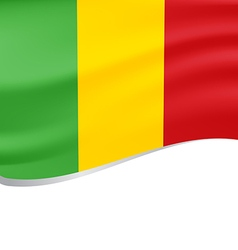 Waving flag of Mali isolated on white vector image