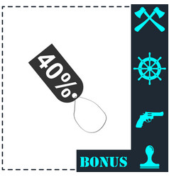 40 percent discount icon flat vector image
