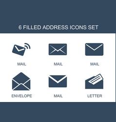 6 address icons vector