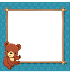 A Bear with white blank vector image