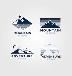 adventure mountain logo symbol vector image