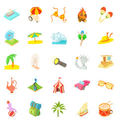 Adventure time icons set cartoon style vector